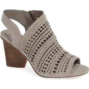 Vince Camuto Derechie Leather Laser Cut Sandals